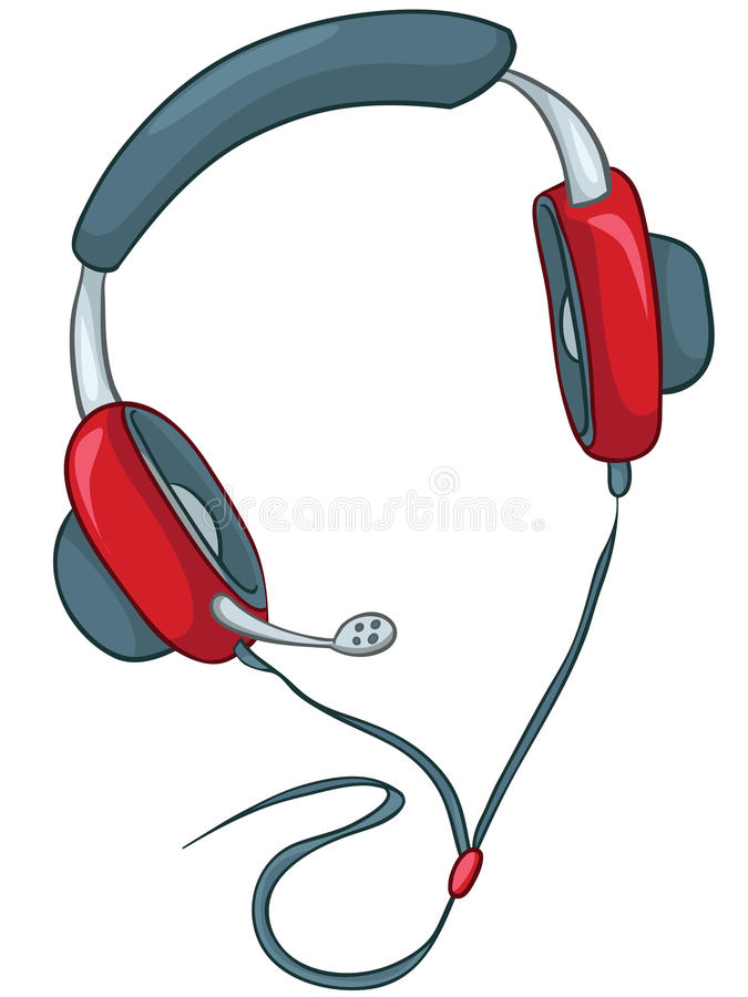 Cartoons Home Appliences Headphone royalty free illustration