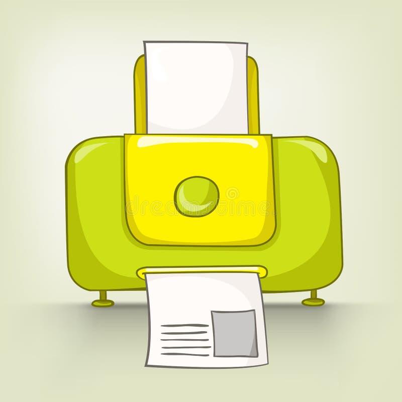 Cartoons Home Appliences Printer stock illustration