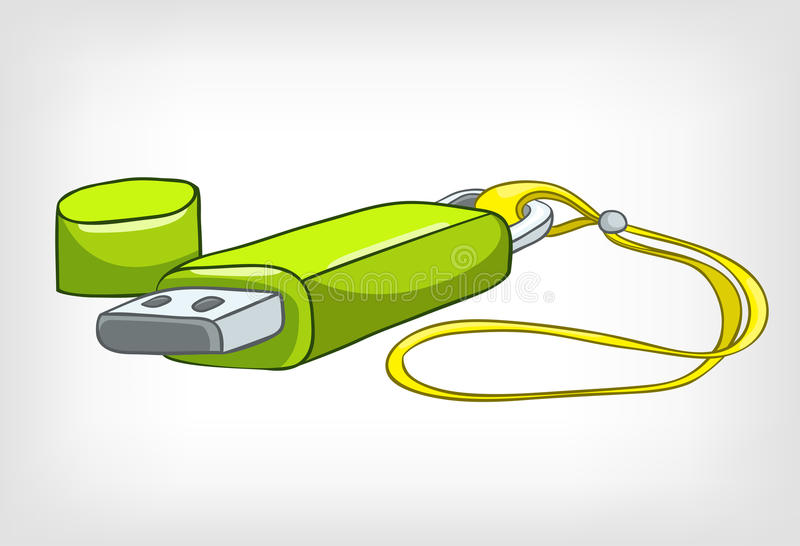 Cartoons Home Appliences USB Stick royalty free illustration