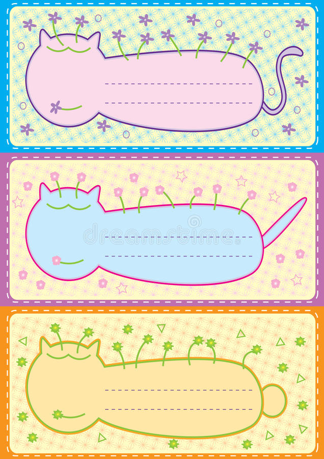 Free Cartoons Name Tag_eps Stock Photography - 17122912