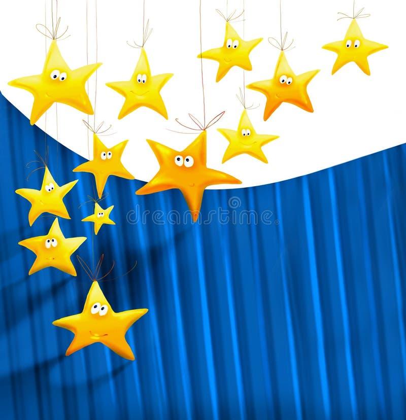 Download Cartoons stars background stock illustration. Illustration of banner - 24923441