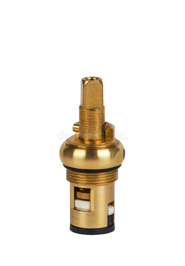 Cartouche de pièces de robinet en laiton pour la valve de l'eau photo stock