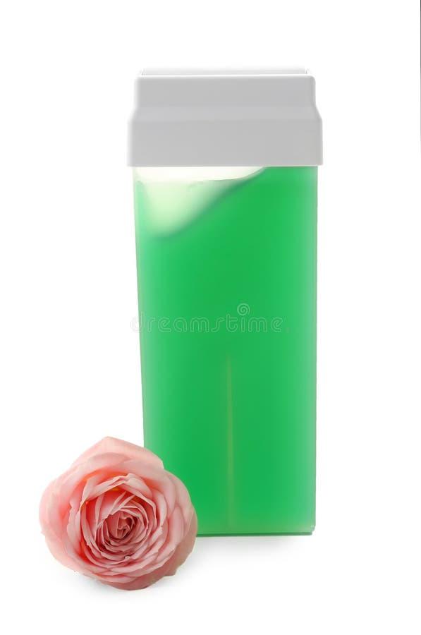 Cartouche et fleur liposolubles de cire photo libre de droits