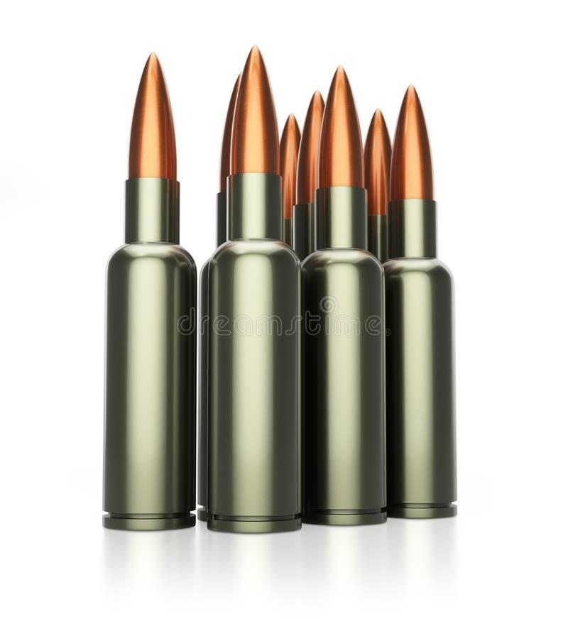 Cartouches d'arme à feu illustration libre de droits