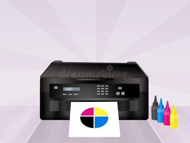 Cartouches d'imprimante illustration stock