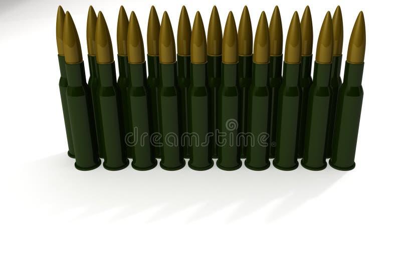 Cartouches pour la mitrailleuse illustration de vecteur
