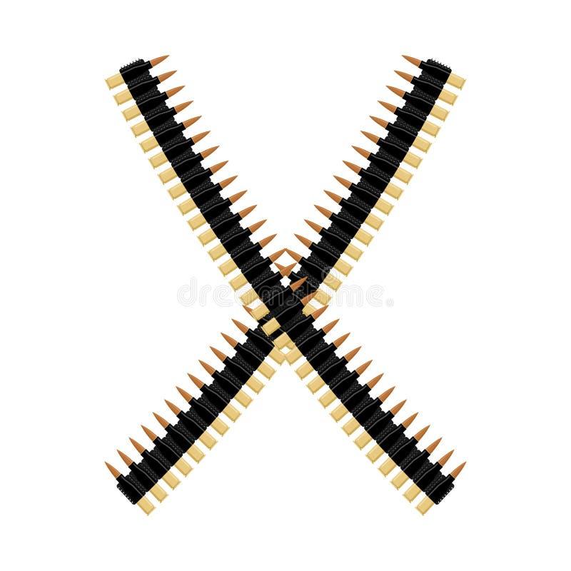 Free Cartridge Belt. Bullet Tape . Stock Image - 81151651