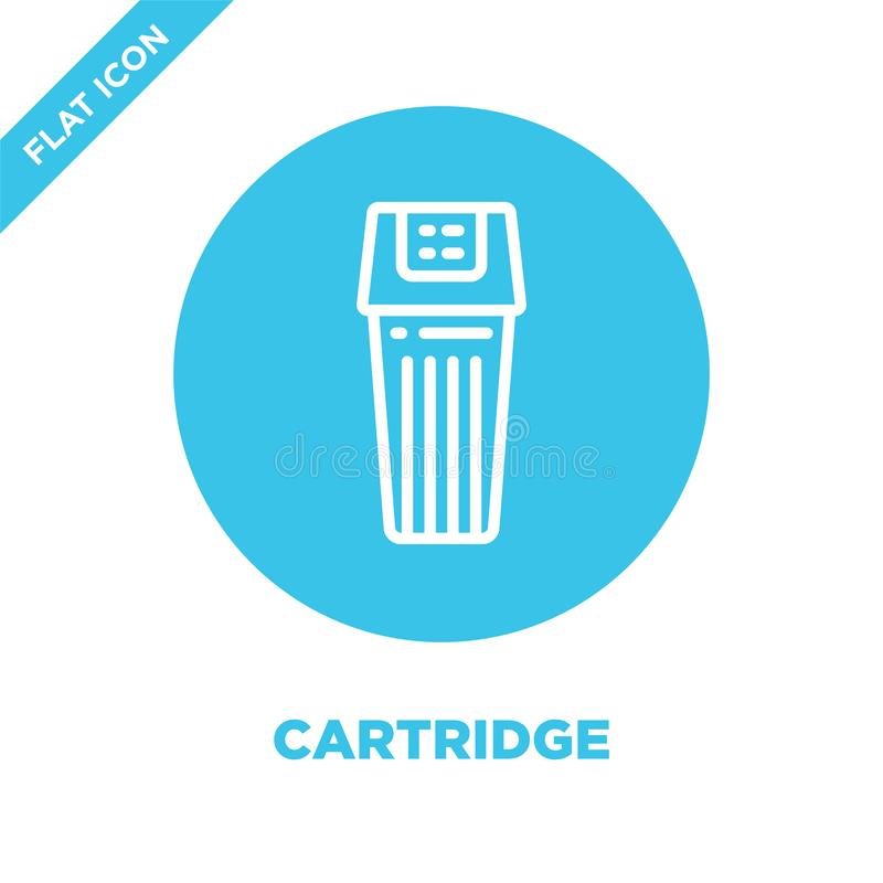 cartridge icon vector from stationery collection. Thin line cartridge outline icon vector  illustration. Linear symbol for use on royalty free illustration