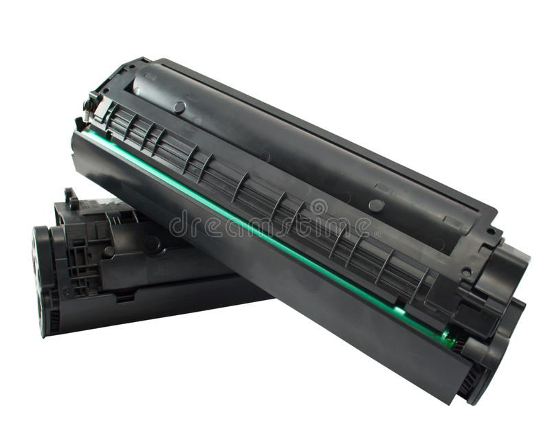 Cartridge for laser printer. On white background royalty free stock image