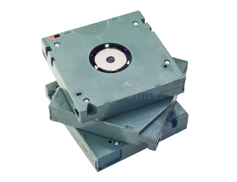 Three cartridge tapes royalty free stock image