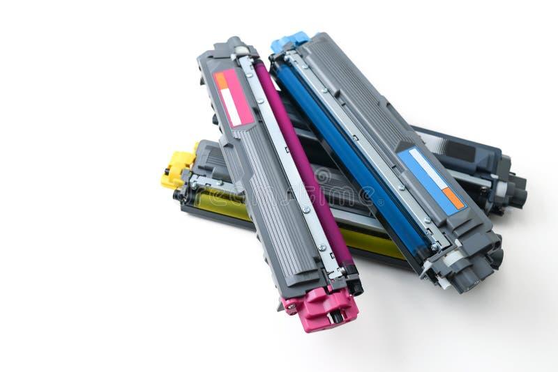 Cartridges. Of color laser printer royalty free stock image