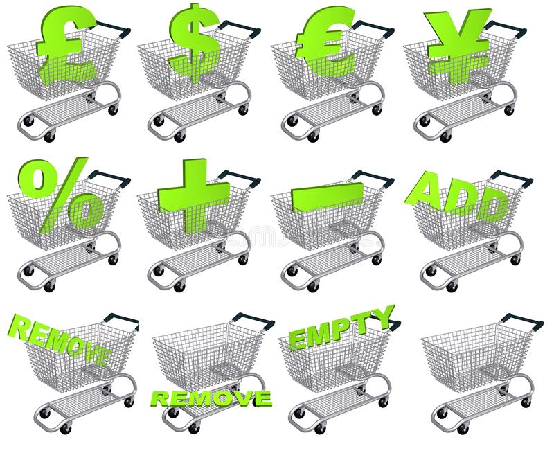 Carts royalty free stock images