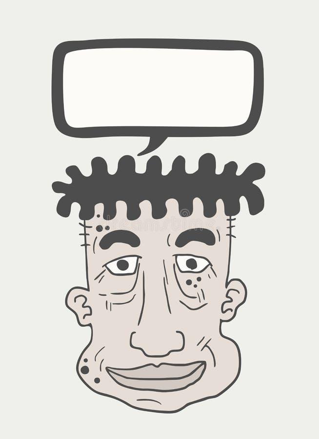 Cartton de visage bavard illustration de vecteur
