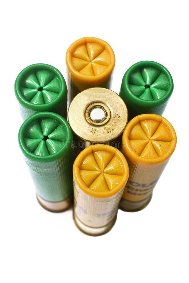 Cartucce per fucili a canna liscia fotografie stock libere da diritti