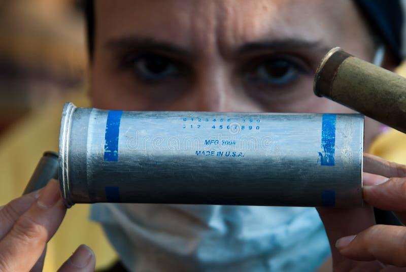 Cartucho da granada de fumo fotografia de stock royalty free