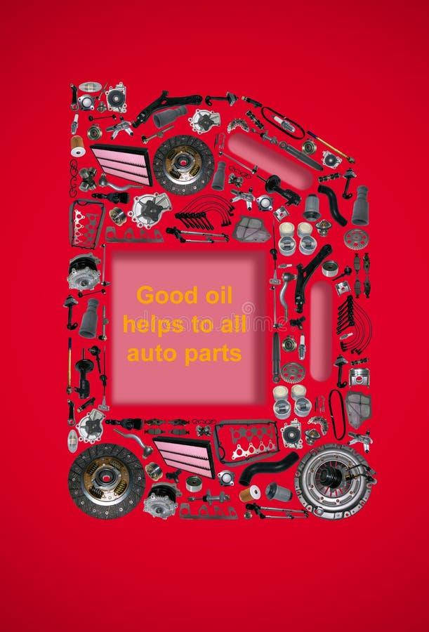 Cartucho de quatro ou cinco litros do óleo de motor fotografia de stock royalty free