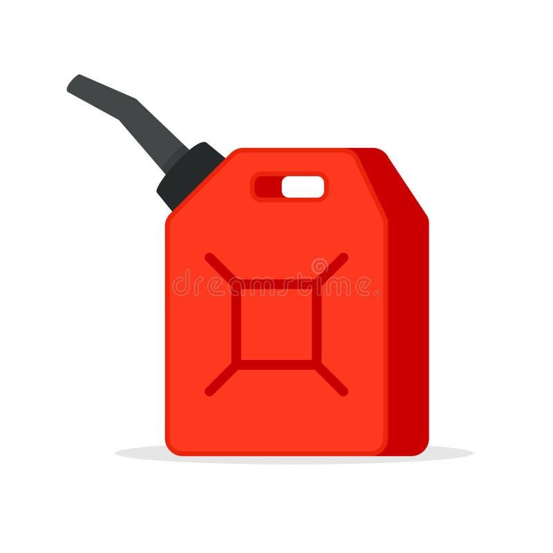 Cartucho do ícone da gasolina ilustração do vetor