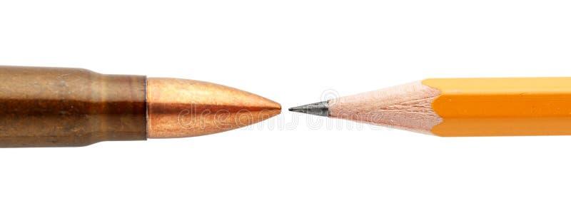 Cartucho e lápis imagens de stock royalty free