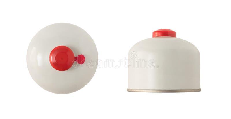 Cartucho ou cilindro do gás para fogões de acampamento imagem de stock