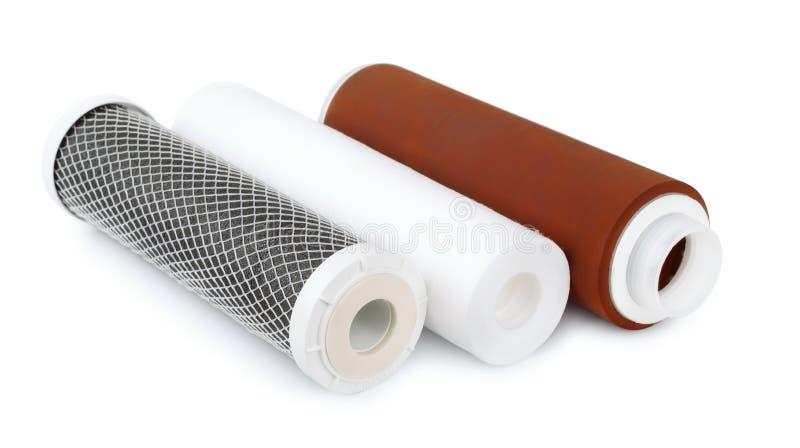 Cartuchos de filtro de agua fotos de archivo libres de regalías