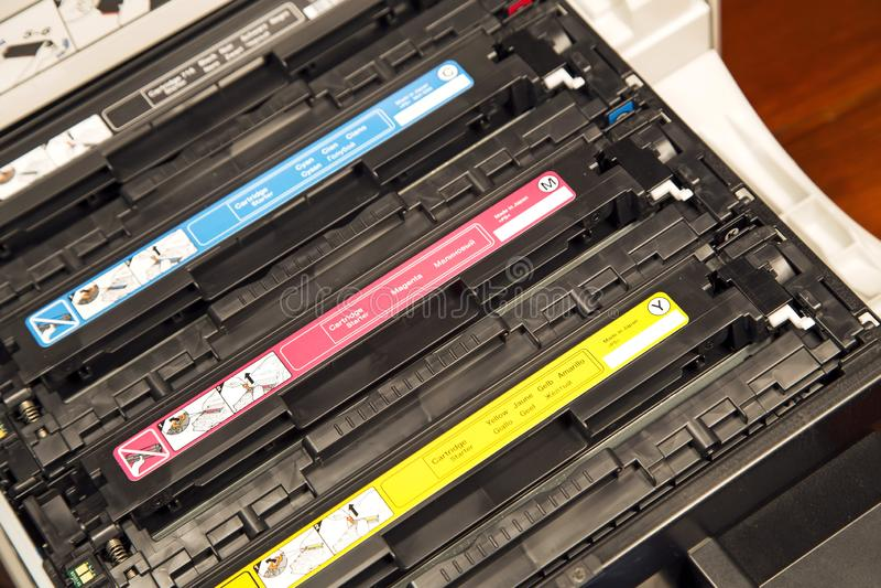Cartuchos do laser fotografia de stock