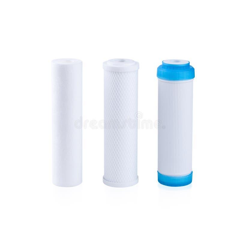 Cartuchos para el filtro de agua foto de archivo libre de regalías