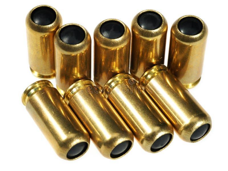 Cartuchos para una pistola imagen de archivo