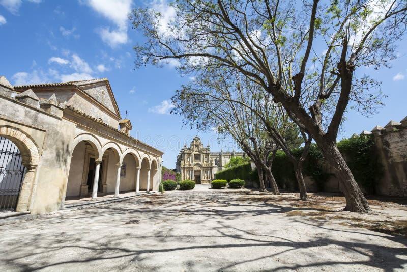 Cartuja monaster, Jerez De La Frontera, Hiszpania (Charterhouse) fotografia royalty free