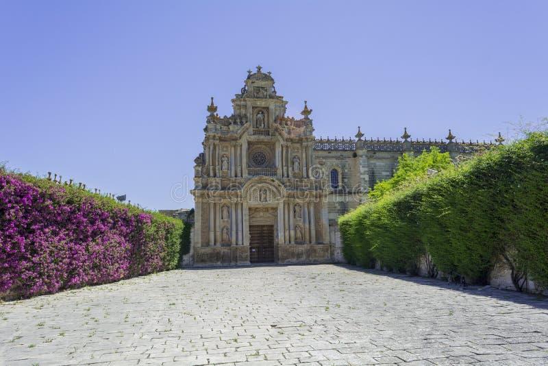 Cartuja monasteru fasada, Jerez De La Frontera obraz royalty free