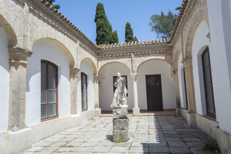 Cartuja monasteru podwórze, Jerez De La Frontera zdjęcie royalty free