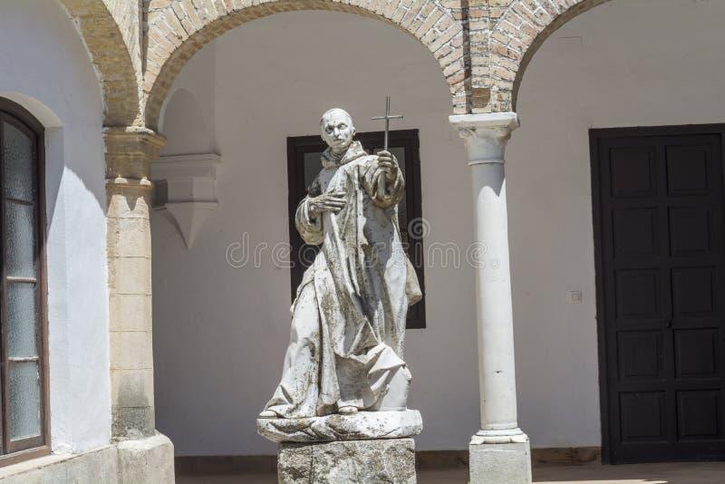 Cartuja monasteru podwórze, Jerez De La Frontera, CÃ ¡ diz fotografia royalty free