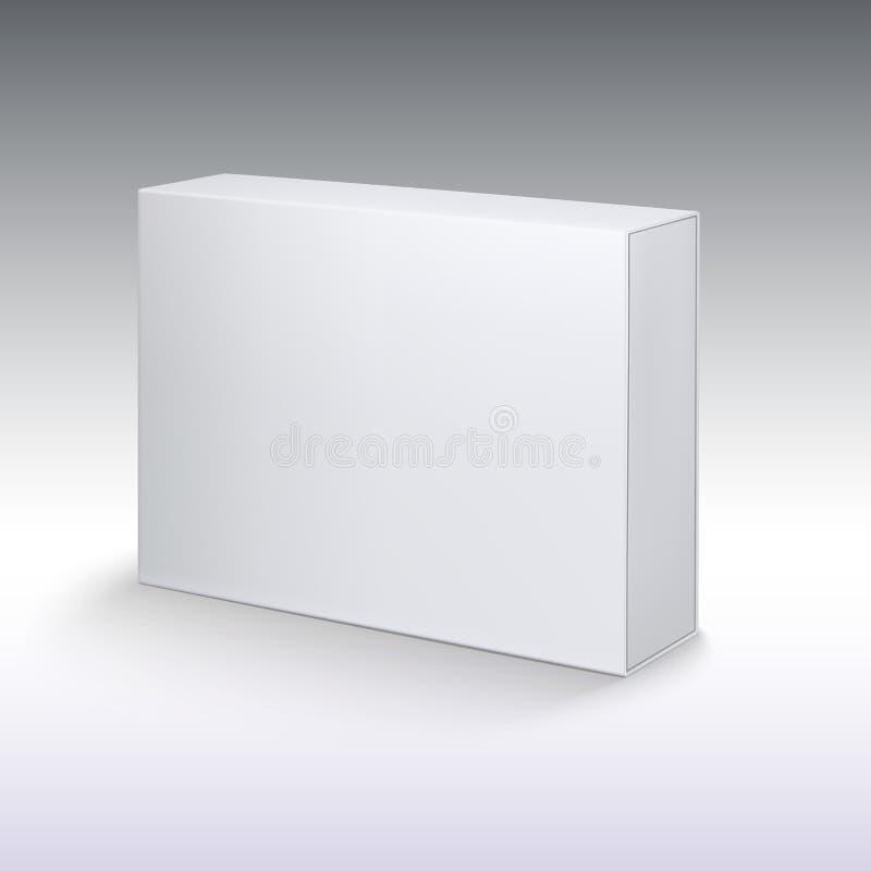 Cartulina blanca del producto, maqueta de la caja del paquete libre illustration
