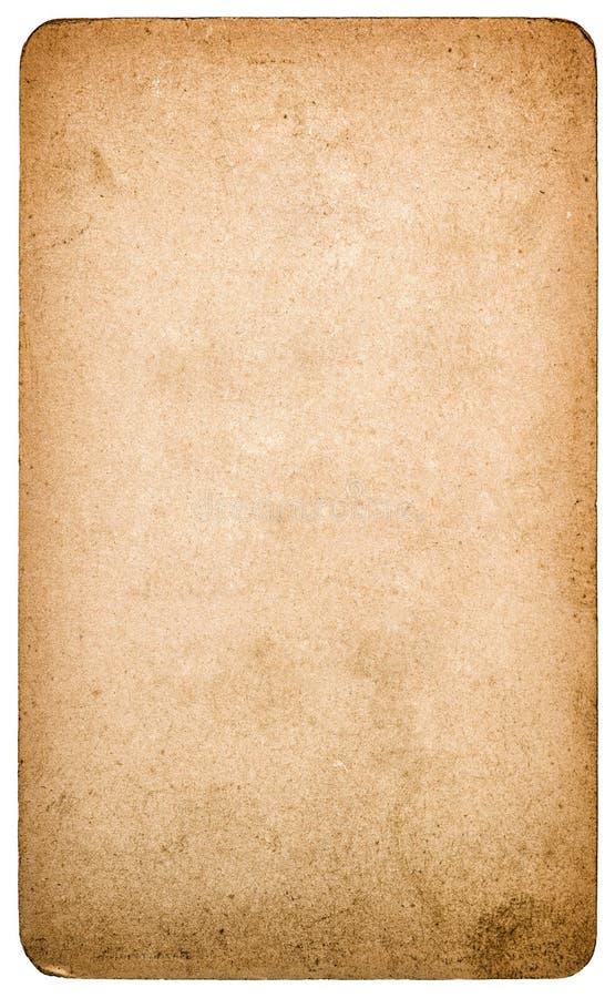 Cartulina de papel texturizada usada aislada Objeto del libro de recuerdos imágenes de archivo libres de regalías