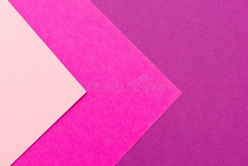 Cartulina púrpura y rosada, color de fondo de papel de la textura Tender colores, fondo geométrico de la cartulina P suave colori fotos de archivo libres de regalías