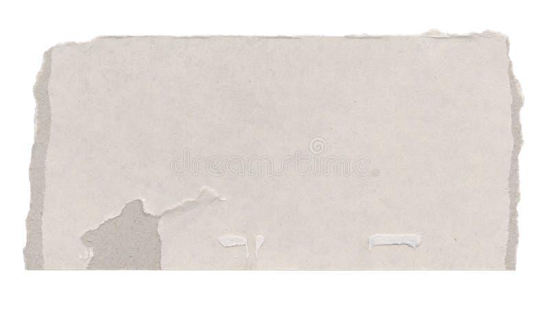 Cartulina rasgada fotografía de archivo