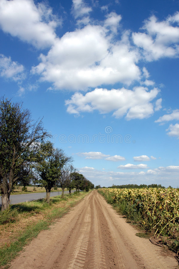 Download Cartway stock image. Image of clouds, cloudy, cartway - 1415061