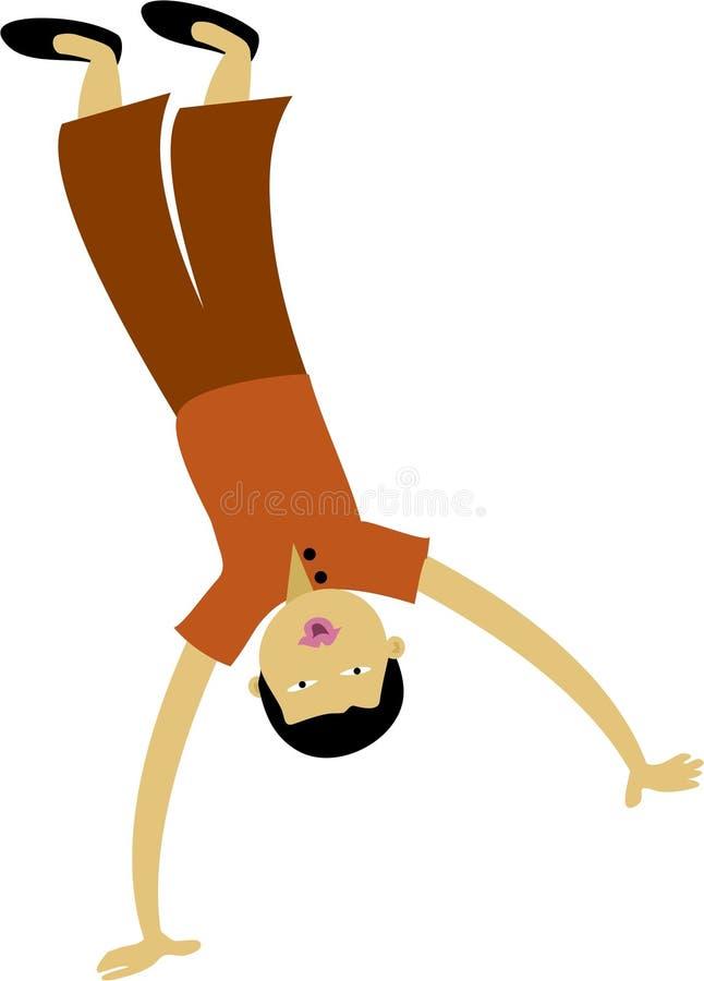 cartwheel royaltyfri illustrationer