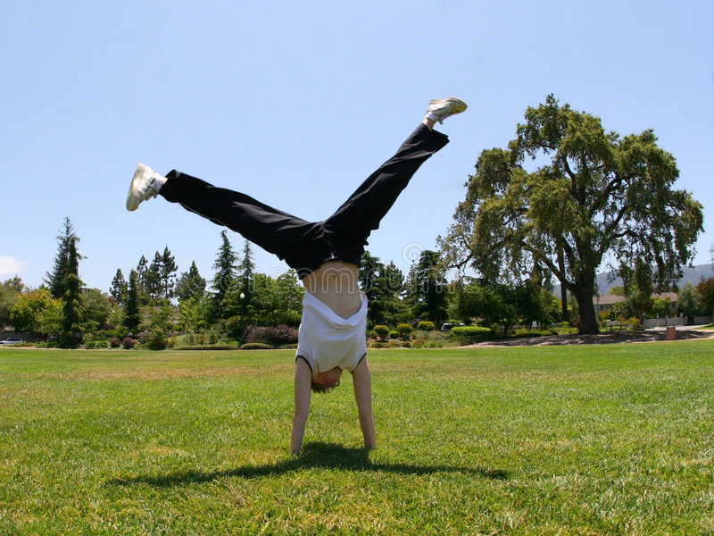 Cartwheel stock foto