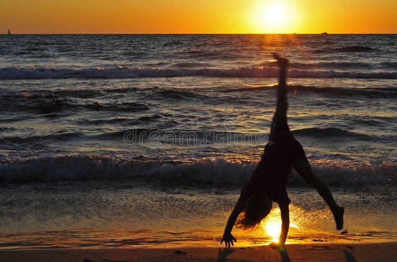 Cartwheel fotografía de archivo libre de regalías