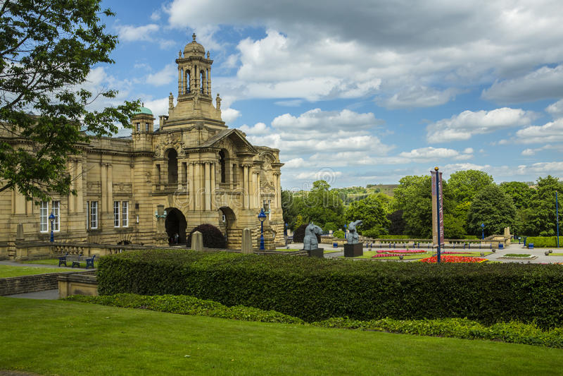 Cartwright Hall Lister park Bradford obrazy stock