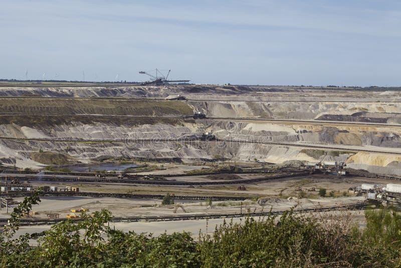 Carvão de Brown - mineração Opencast Inden imagem de stock royalty free