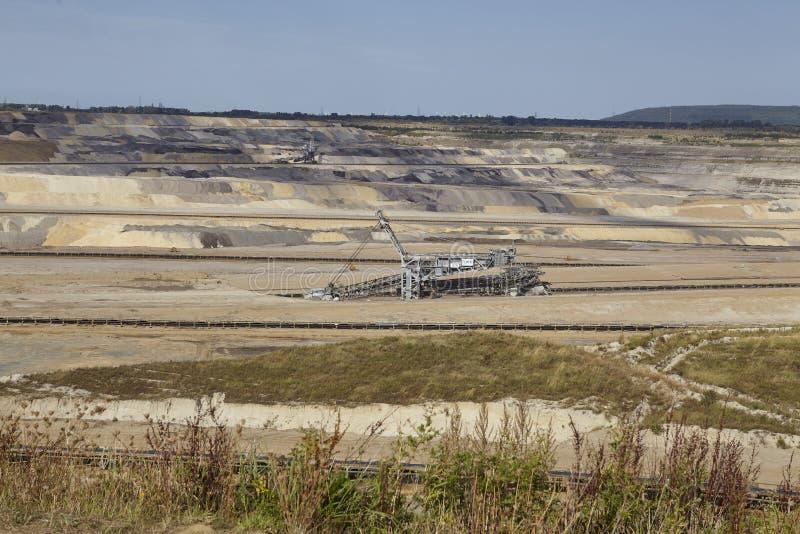 Carvão de Brown - mineração Opencast Inden fotos de stock