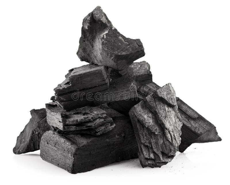 Carvão de madeira imagens de stock royalty free