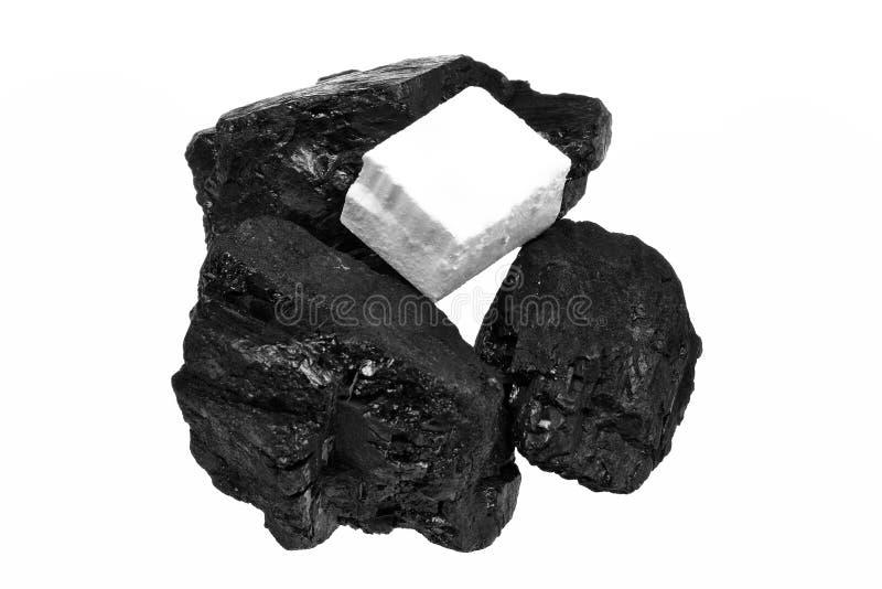 Carvão e acendedores imagem de stock