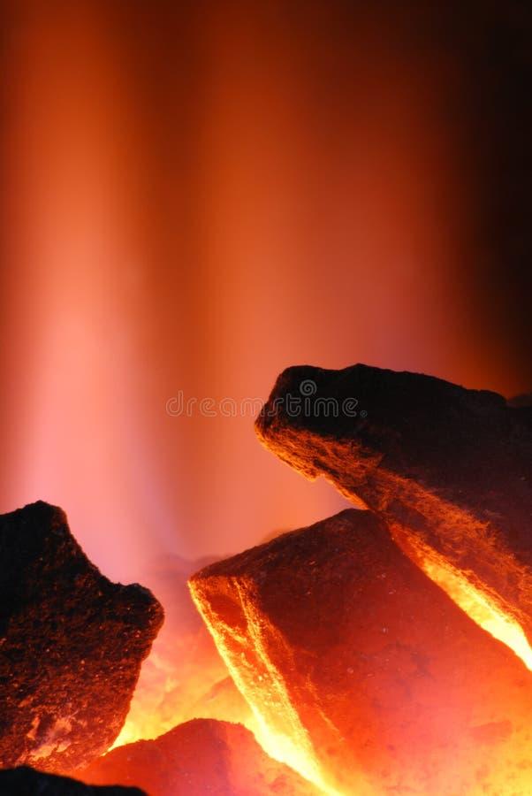 Carvão Incandescent foto de stock royalty free