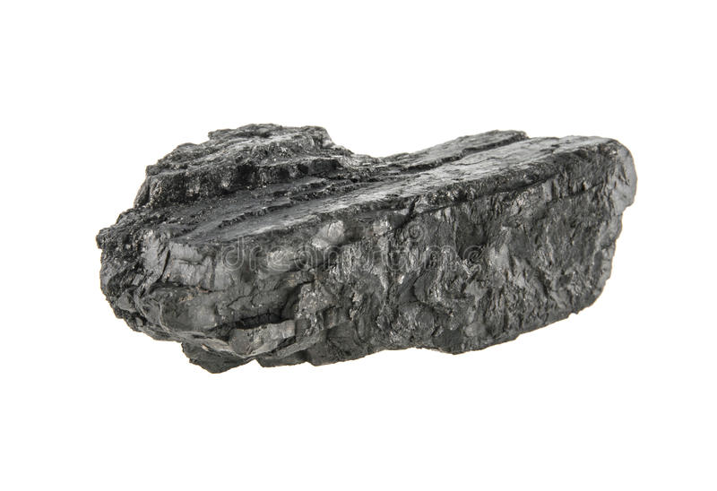Carvão isolado no branco imagem de stock