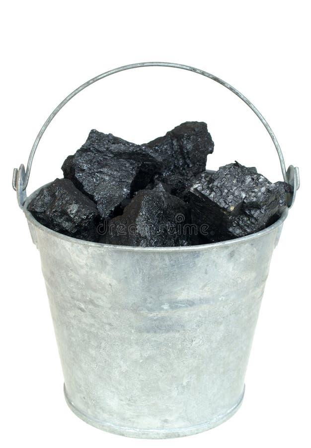Carvão na cubeta foto de stock royalty free