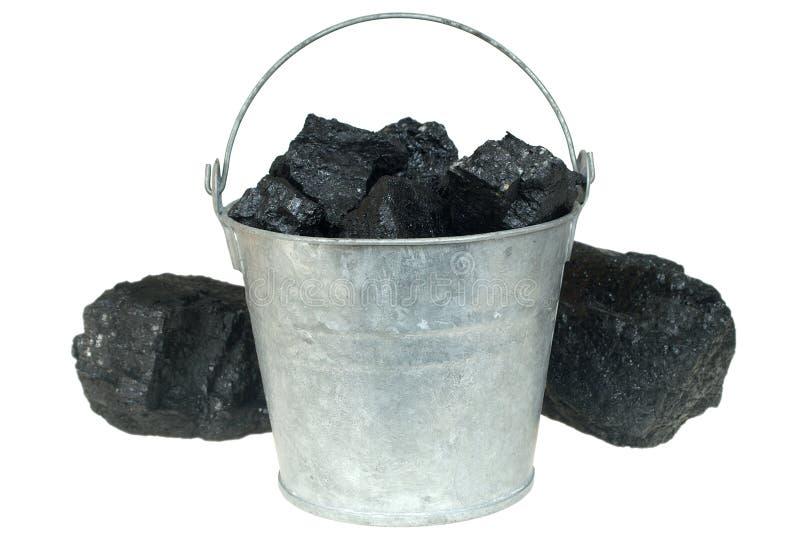 Carvão na cubeta imagens de stock royalty free