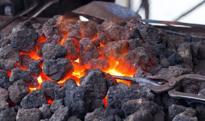 Carvão quente fotos de stock
