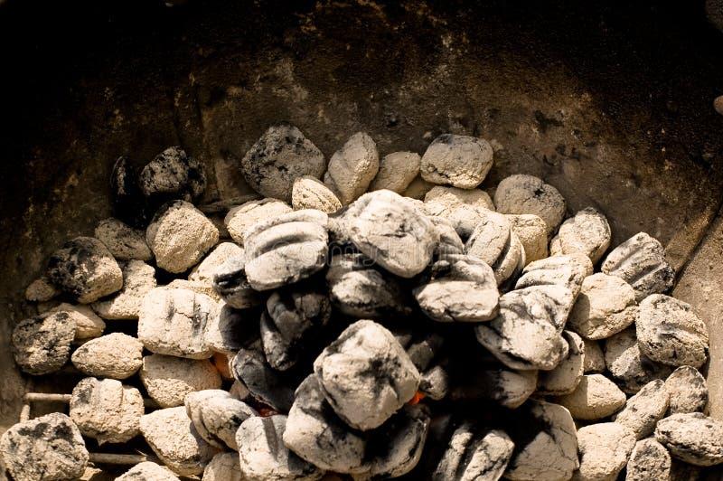 Carvão vegetal de incandescência imagem de stock